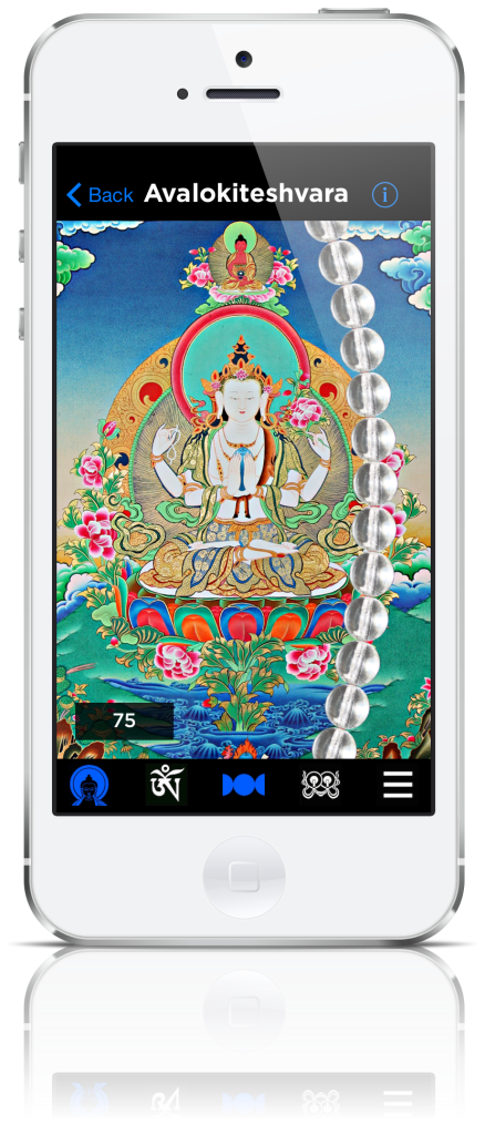 avalokiteshvara buddhist mantra mala app screenshot